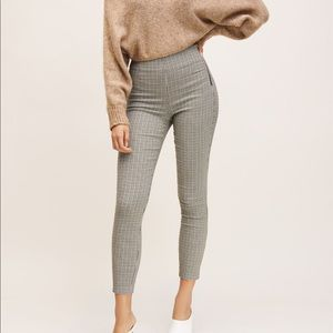 Dynamite High Waisted Checkered Pant Leggings